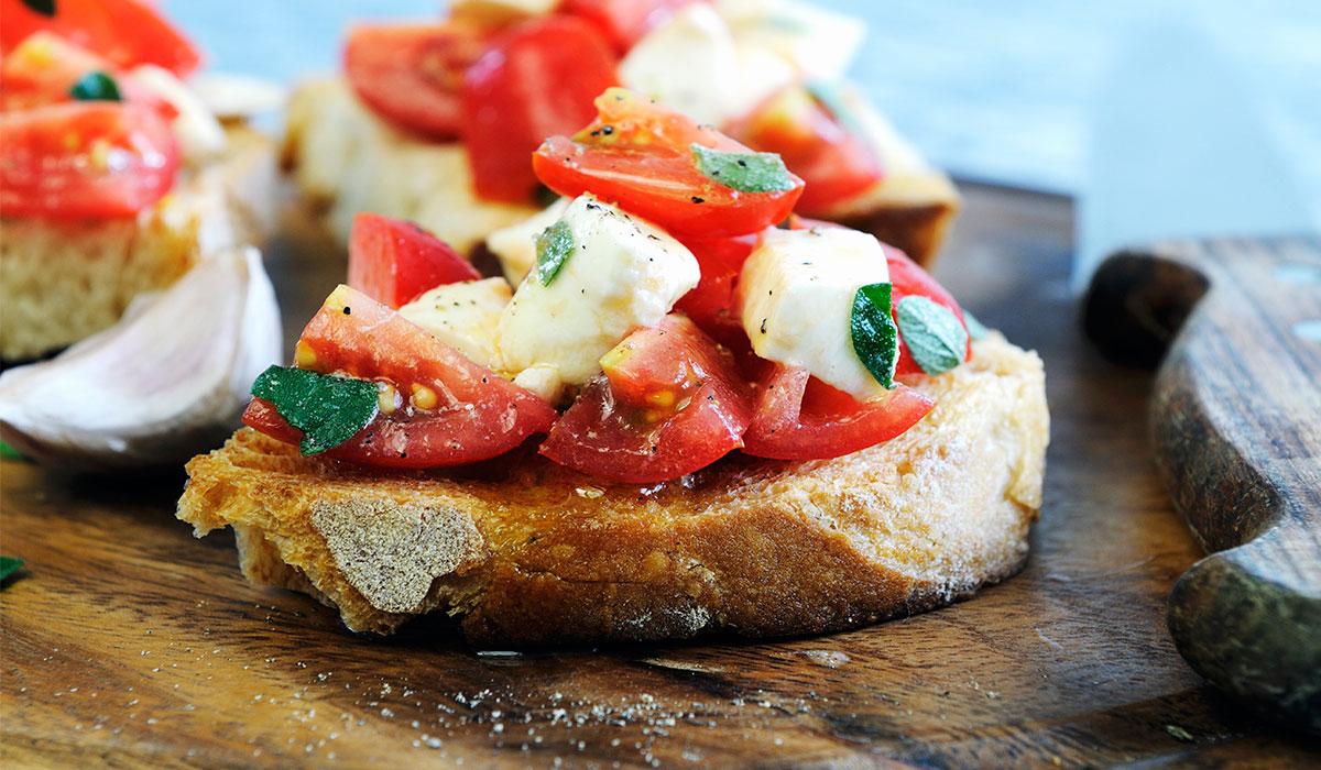 Recette bruschetta tomate mozzarella