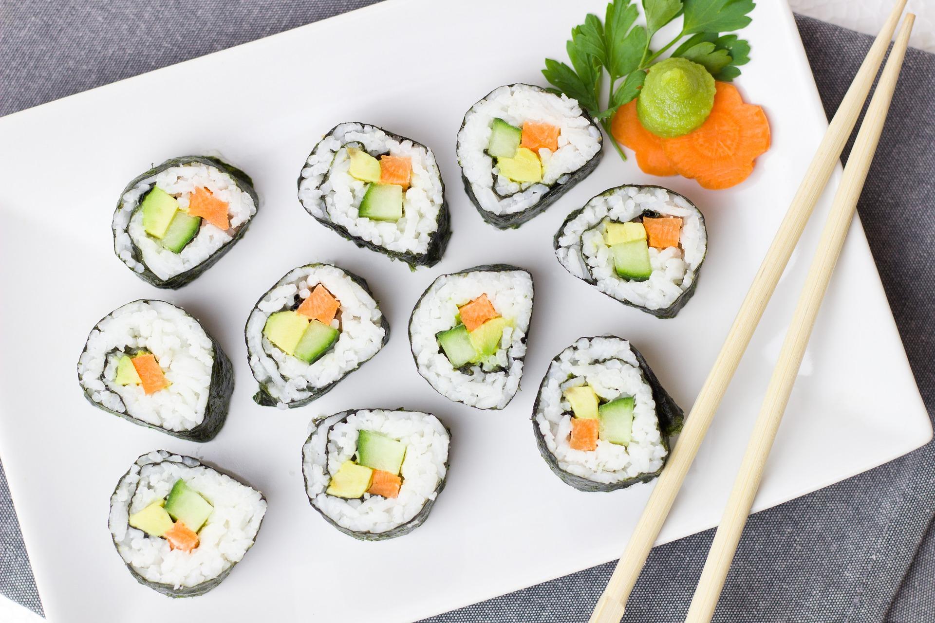 Recette maki aux légumes faits maison
