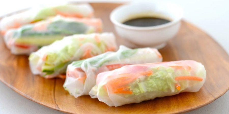 Recette rouleau de printemps au yakiniku et sauce barbecue